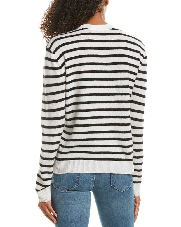 Atm Anthony Thomas Melillo Striped Cashmere Sweater