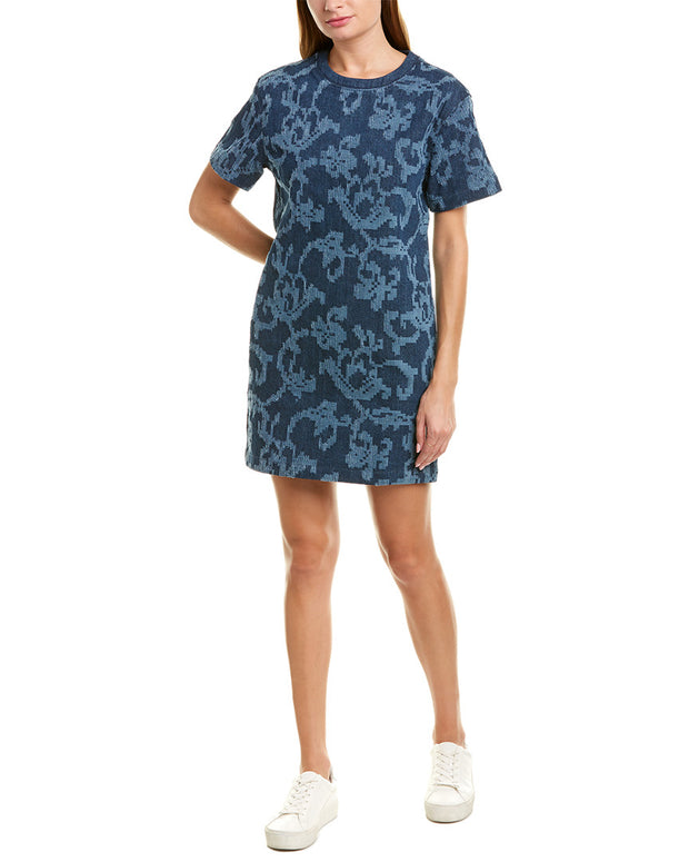 Rag & Bone Jacquard Denim Shift Dress
