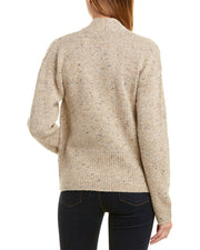 Vince Ribbed Trim Wool & Alpaca-Blend Cardigan