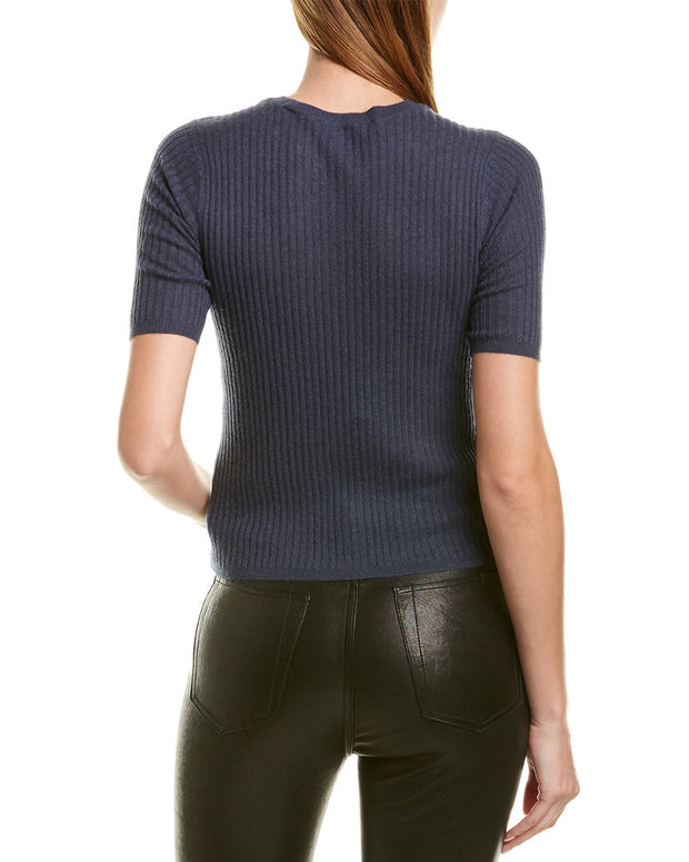 Vince Elbow Sleeve Cashmere Pullover
