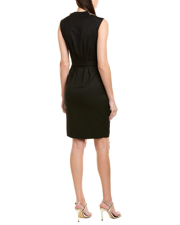 Pinko Tie-Waist Sheath Dress