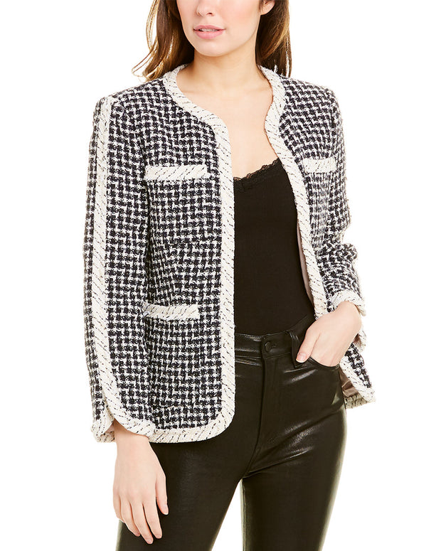 Rebecca Taylor Graphic Tweed Jacket