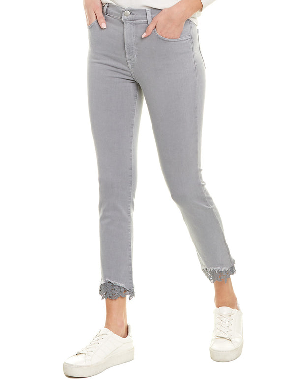 J Brand Ruby Georgetown Lace High-Rise Crop