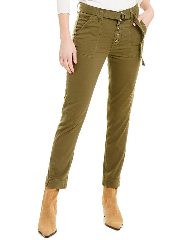 J Brand Kyrah Dystopia High-Rise Straight Crop