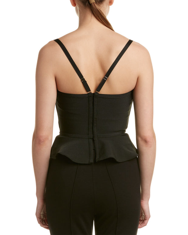 Wow Couture Cropped Peplum Top