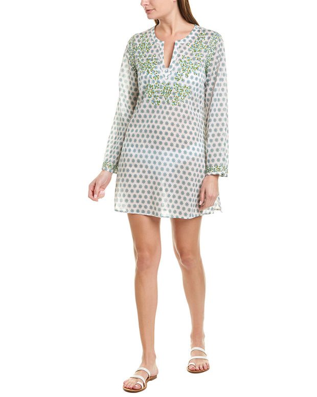 Johnny Was Azalea Embroidered Linen Tunic