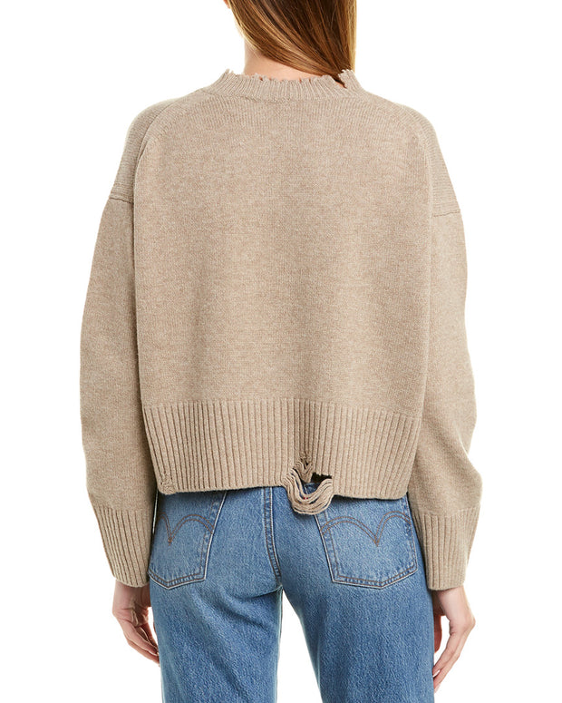 Helmut Lang Distressed Wool Pullover