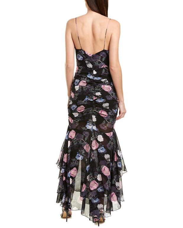 Nicholas Ruched Silk Maxi Dress