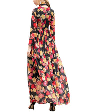 Burryco Silk-Blend Maxi Dress