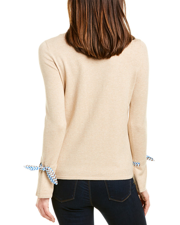 J.Mclaughlin Silk-Trim Sweater