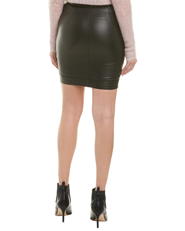 Rta Blaine Leather Skirt