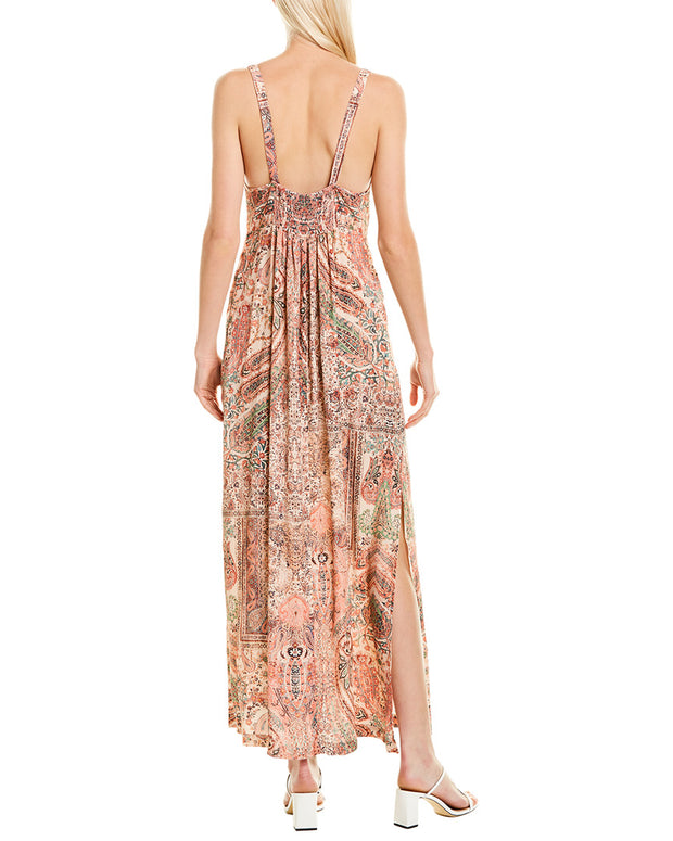 Fifteen Twenty Tie-Front Maxi Dress