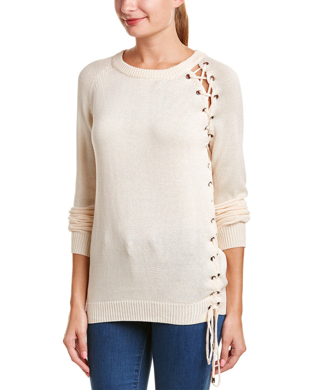 Very J Lace-Up Pullover