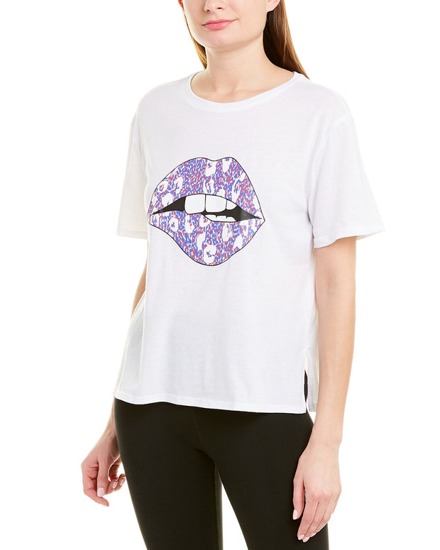 Betsey Johnson Lips And Leopard T-Shirt