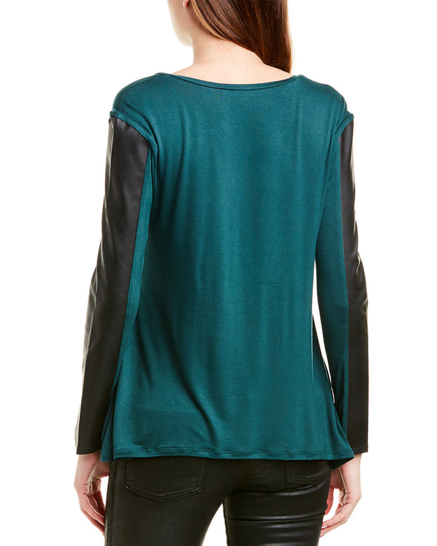 Bcbgmaxazria Mixed Media Top