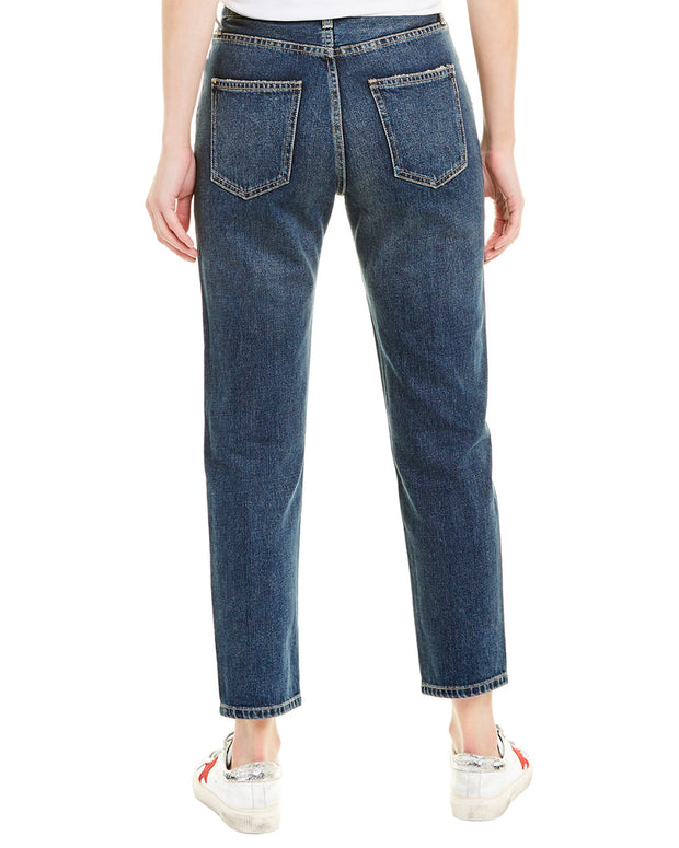 Current/Elliott The Vintage 1 Year Worn Rig Cropped Slim Leg