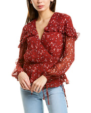 Stevie May Crepe Wrap Blouse
