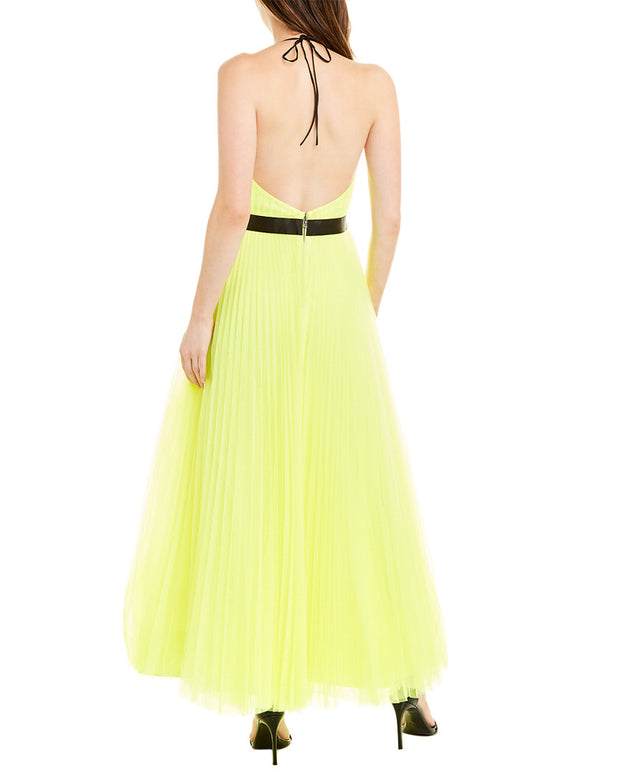 Alice + Olivia Bitsy Pleated Gown