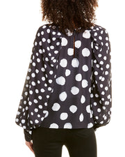 City Sleek Polka Dot Blouse