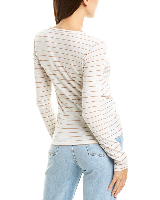 Vince Chalk Stripe Crewneck Top