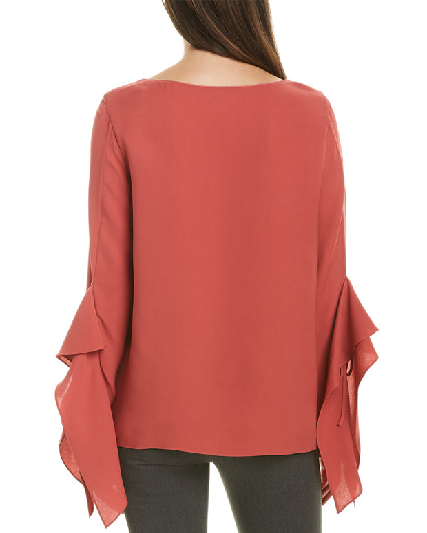 Lafayette 148 New York Catharina Silk Blouse