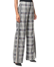 Monse Racing Stripe Vintage Plaid Pant