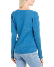 Ainsley Basic V-Neck Cashmere Sweater