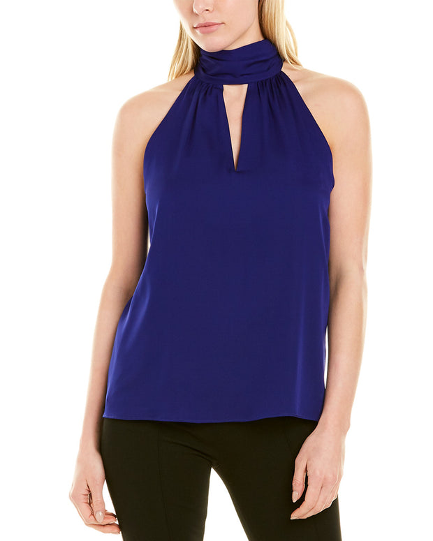 Milly Emma Tie Neck Silk-Blend Top