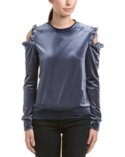 Samantha Dru Cold-Shoulder Top