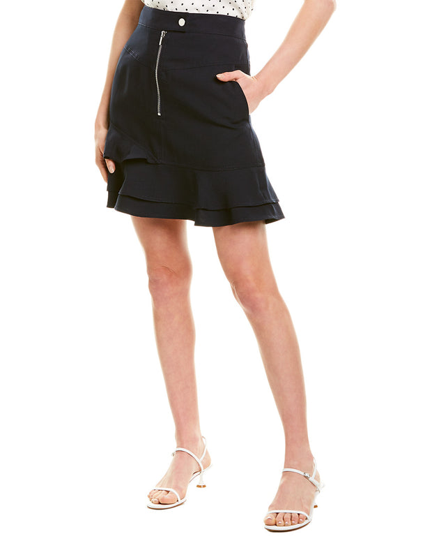 Derek Lam 10 Crosby Ruffle Hem Mini Skirt