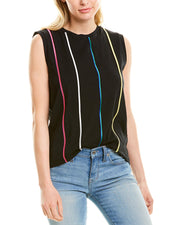 Derek Lam 10 Crosby Embroidered Stripe Top