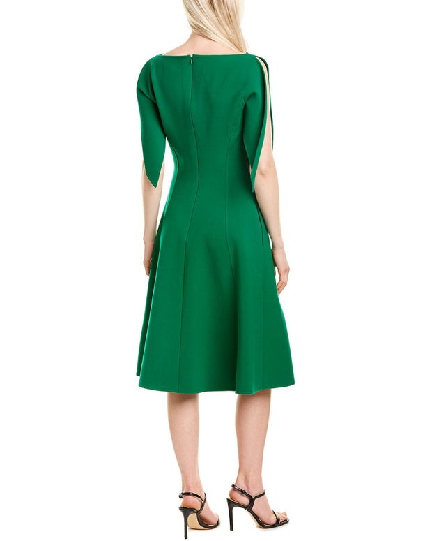 Oscar De La Renta Wool-Blend A-Line Dress