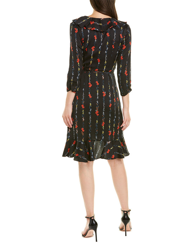Milly Audrey Silk-Blend Wrap Dress