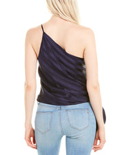 Michelle Mason One-Shoulder Silk Top