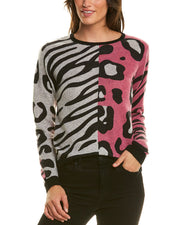 Scott & Scott London Animal Block Cashmere Sweater