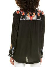 Johnny Was Veda Silk Blouse