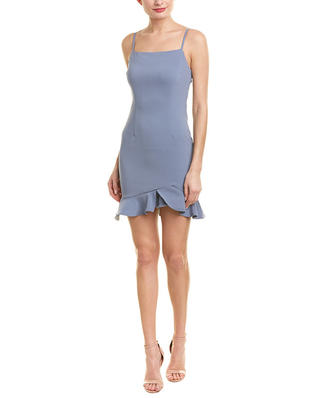 City Sleek Peplum Sheath Dress