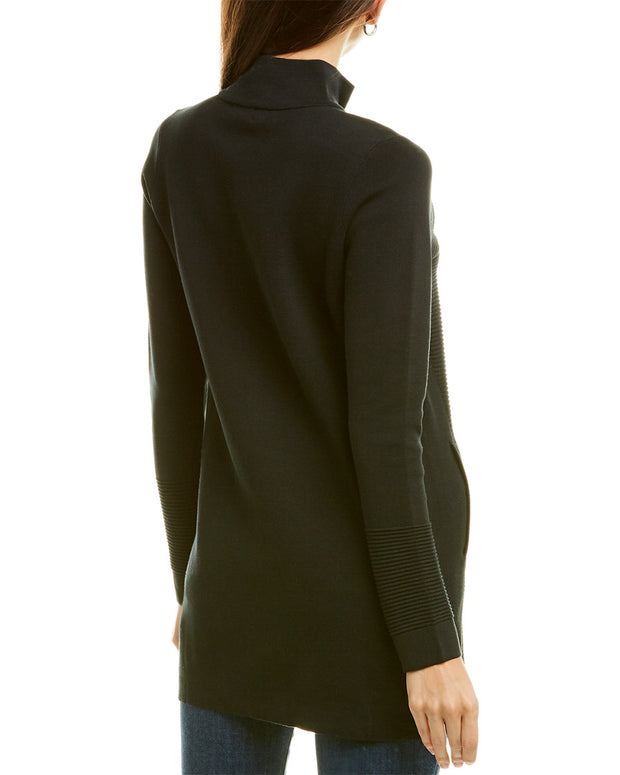 Forte Cashmere Zip Mock Cashmere Duster