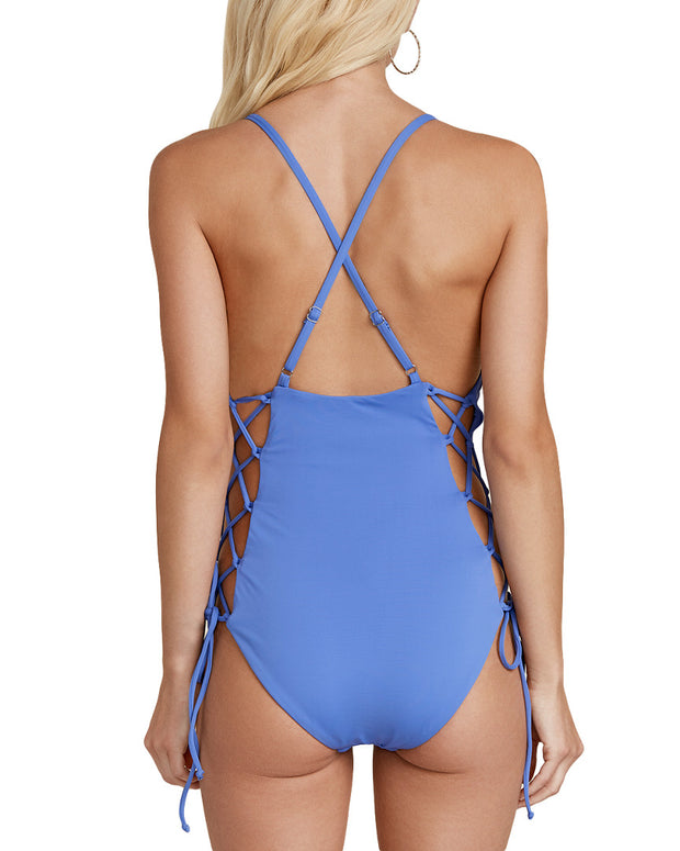 Dippin' Daisy's Caged Tie-Side Cheeky Coverage One-Piece