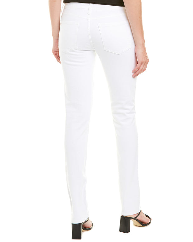 Frame Denim Le Nik Blanc Low-Rise Straight Leg