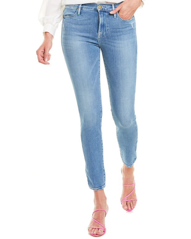 Frame Denim Le High Republic Rips Skinny Leg