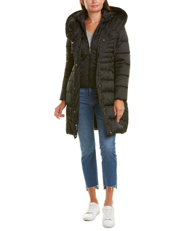 Tahari Casey Long Puffer Coat