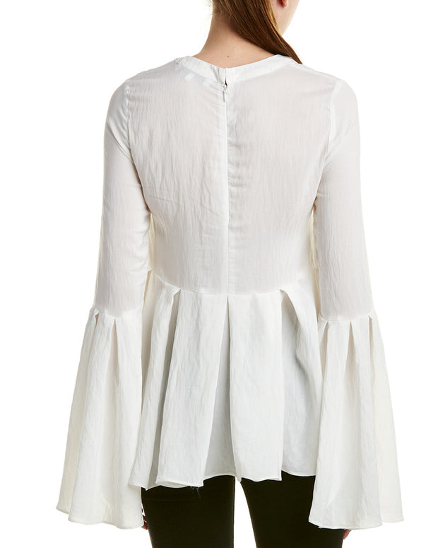 Endless Rose Pleated Bell-Sleeve Top