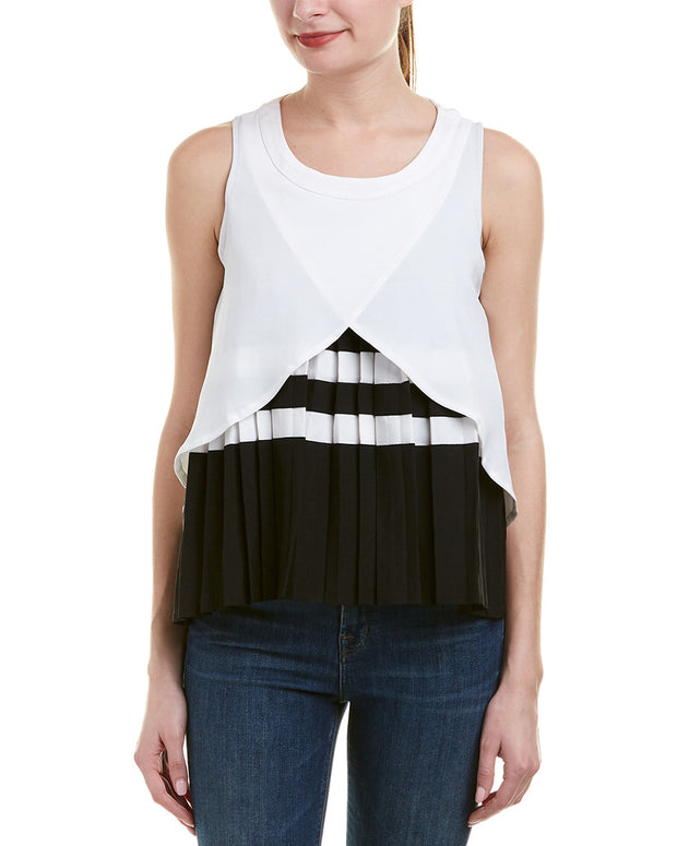 Haute Rogue Pleated Top