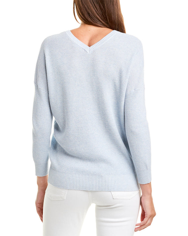 Lilla P 3/4-Sleeve V-Neck Sweater