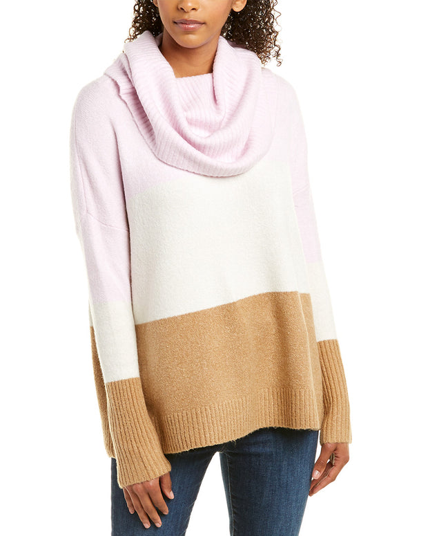 French Connection Flossy Ribbed Cowl Sweater