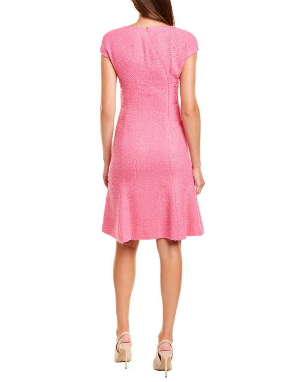 Oscar De La Renta Tweed Silk-Lined A-Line Dress
