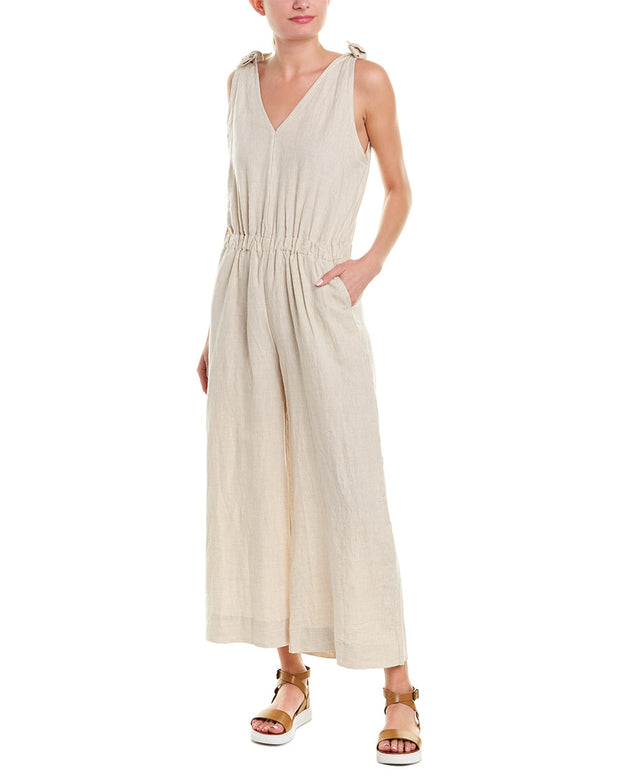 4Our Dreamers Tie-Shoulder Linen Jumpsuit