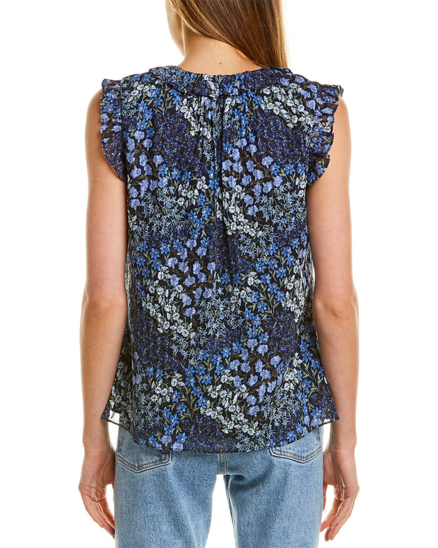 Rebecca Taylor Ava Floral Silk-Blend Top