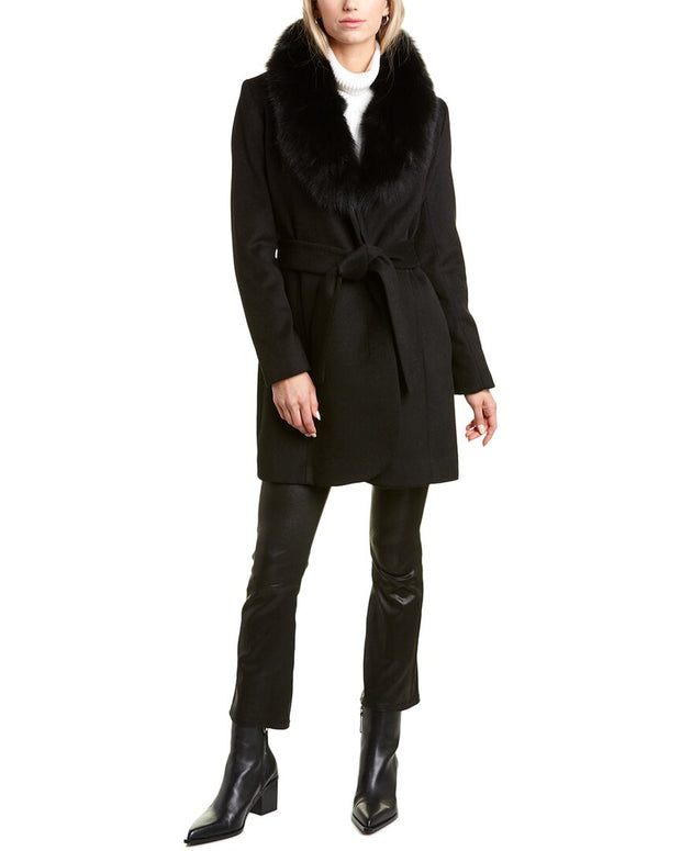 Forecaster Shawl Collar Wool-Blend Long Coat